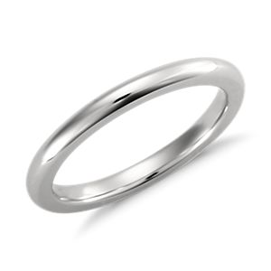 Comfort Fit Wedding Ring in Platinum (2mm)