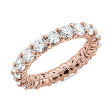 NEW Comfort Fit Round Brilliant Diamond Eternity Ring in 14k Rose Gold (3 ct. tw.)