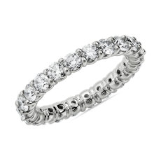Comfort Fit Round Brilliant Diamond Eternity Ring in 14k White Gold (2 ct. tw.)