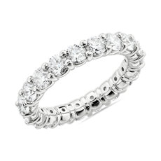 Comfort Fit Round Brilliant Diamond Eternity Ring in 14k White Gold (3 ct. tw.)
