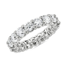 NEW Comfort Fit Round Brilliant Diamond Eternity Ring in 18k White Gold (4 ct. tw.)