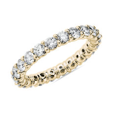 NEW Comfort Fit Round Brilliant Diamond Eternity Ring in 18k Yellow Gold (2 ct. tw.)