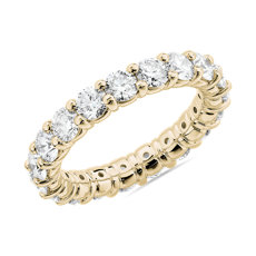 Comfort Fit Round Brilliant Diamond Eternity Ring in 18k Yellow Gold (3 ct. tw.)