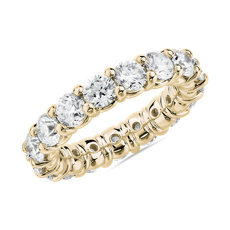 NEW Comfort Fit Round Brilliant Diamond Eternity Ring in 18k Yellow Gold (4 ct. tw.)