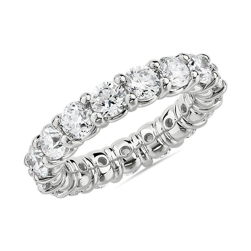 Comfort Fit Round Brilliant Diamond Eternity Ring in Platinum (4