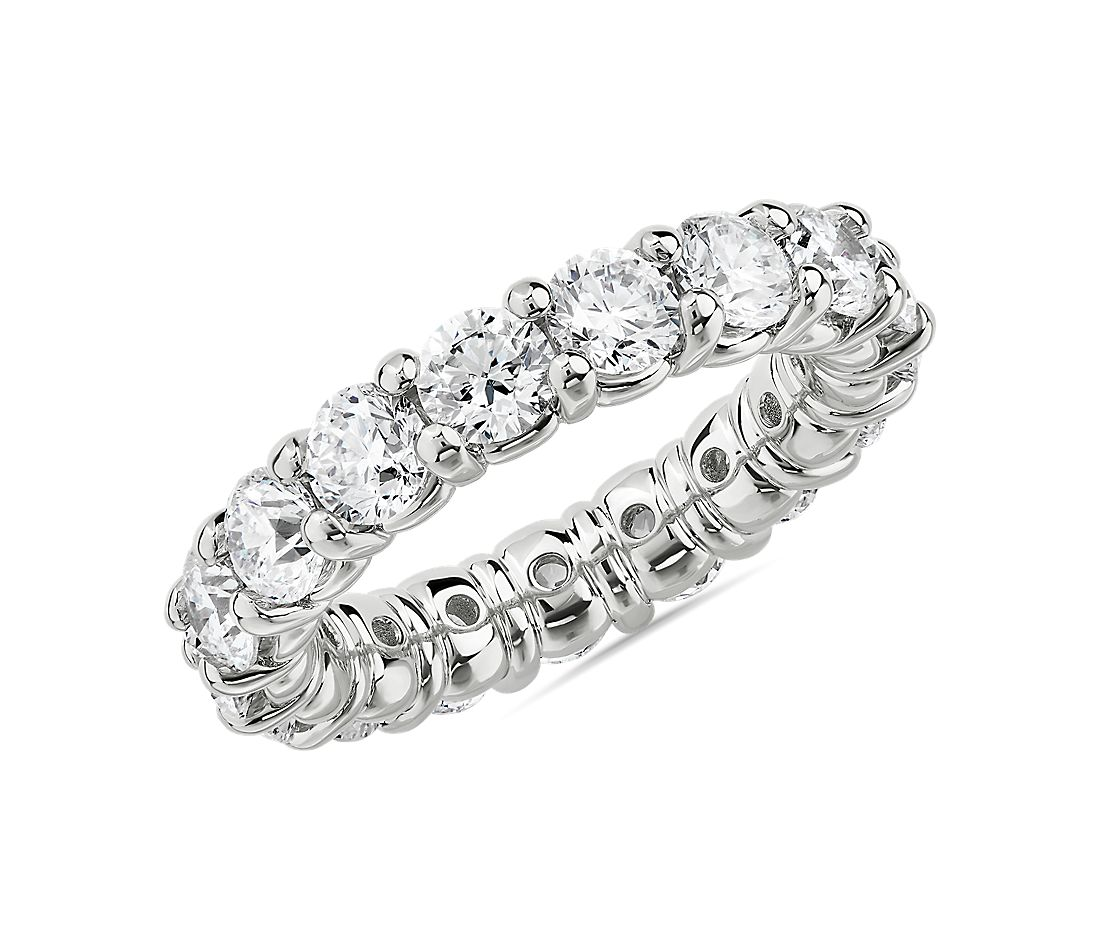 Comfort Fit Round Brilliant Diamond Eternity Ring in Platinum (4 ct. tw.)