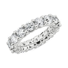 NEW Comfort Fit Round Brilliant Diamond Eternity Ring in Platinum (4.65 ct. tw.)