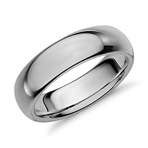 Comfort Fit Wedding Ring in Classic Gray Tungsten Carbide (6mm)