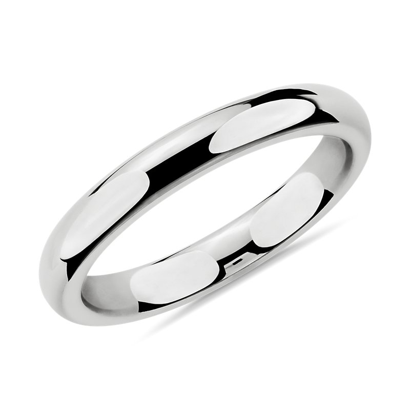 Comfort Fit Wedding Ring in 14k White Gold (3mm)
