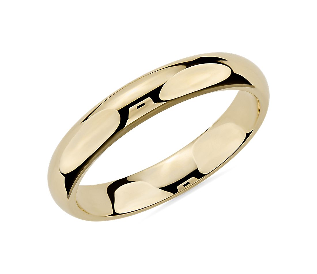 Comfort Fit Wedding Ring in 14k Yellow Gold (4mm)