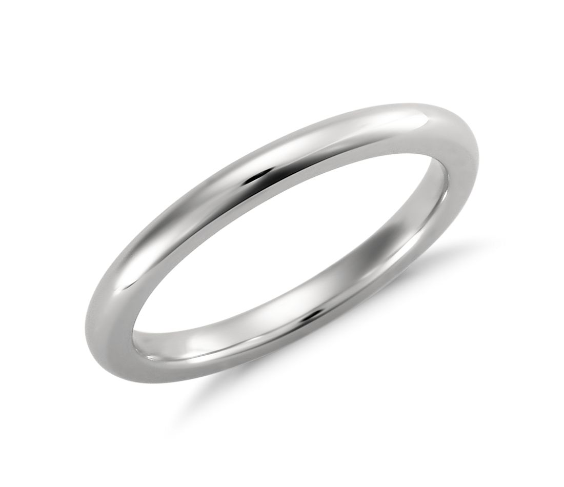 Comfort-Fit Wedding Ring in Platinum (2mm)