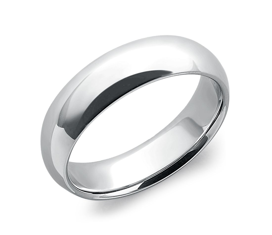 Comfort Fit Wedding Ring In Platinum 6mm