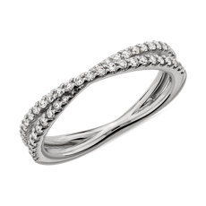 NEW Contemporary Criss-Cross Diamond Ring in Platinum (1/4 ct. tw.)