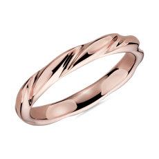 Swirl Male Ring in 14k Rose Gold (3mm)