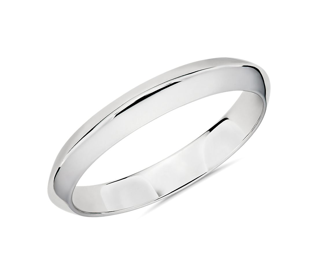 Knife Edge Male Ring in Platinum (3.5mm)
