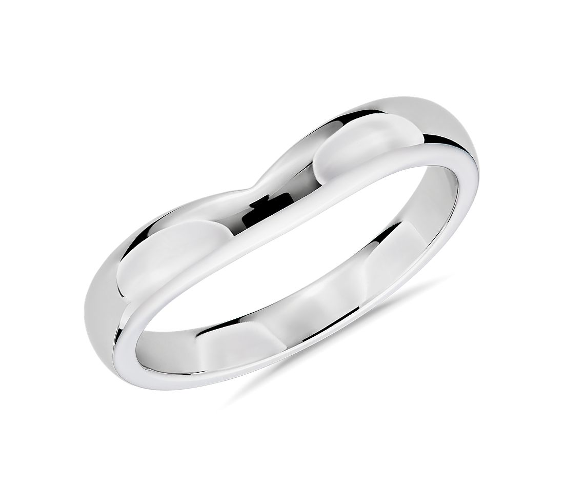 Unity Male Ring in 14k White Gold (3mm)