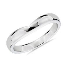 Unity Male Ring in 18k White Gold (3mm)