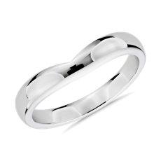 铂金联合式男士戒指<br>(3毫米)