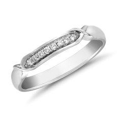 Icon Diamond Female Ring in Platinum (1/10 ct. tw.)
