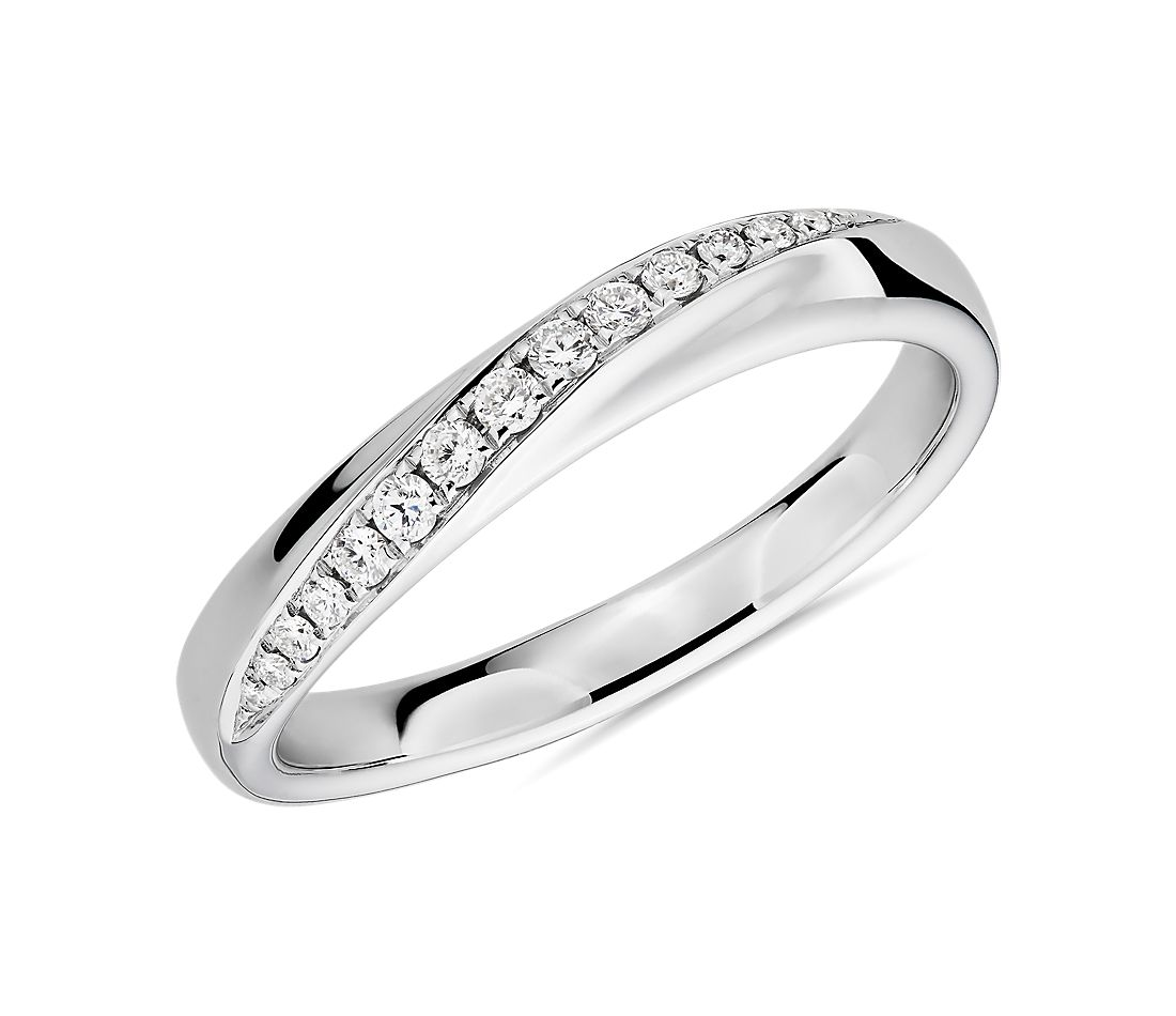 Arch Diamond Female Ring in 18k White Gold (1/8 ct. tw.)
