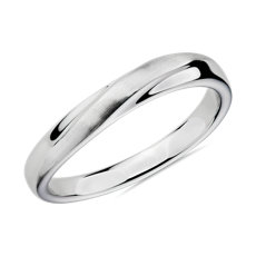 Arch Male Ring in 18k White Gold (3mm)