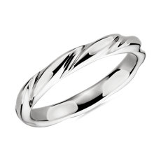 Swirl Male Ring in Platinum (3mm)