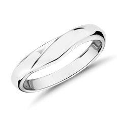 铂金峰式男士戒指<br>(4毫米)