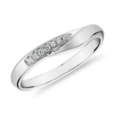 Peaked Diamond Female Ring in 14k White Gold (1/10 ct. tw.)