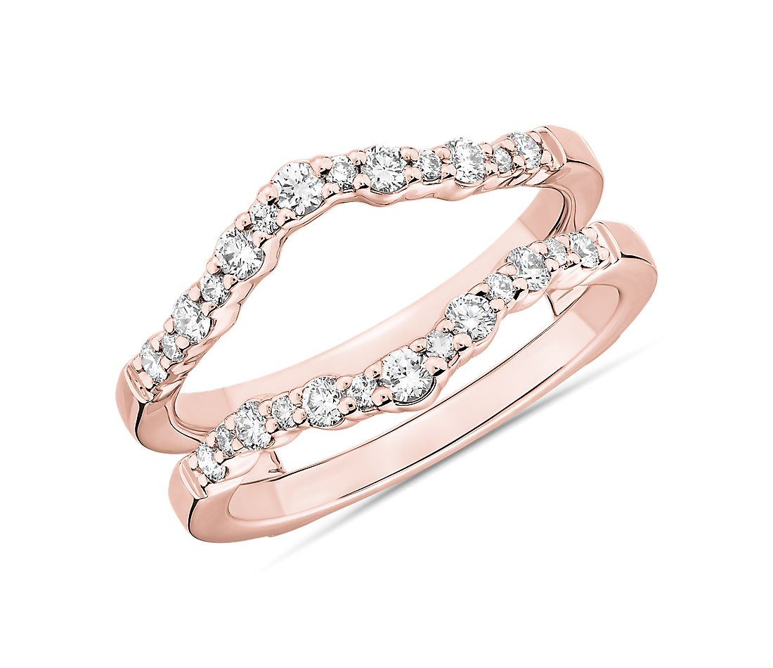Crescendo Curved Diamond Guard in 14k Rose Gold (3/8 ct. tw.)