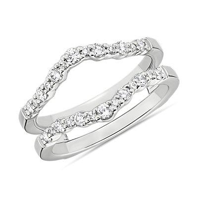 Crescendo Curved Diamond Guard in 14k White Gold (3/8 ct. tw.)