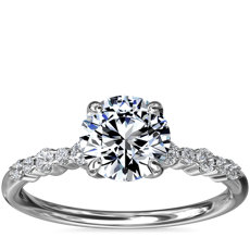 Crescendo Petite Diamond Engagement Ring in 14k White Gold (1/6 ct. tw.)