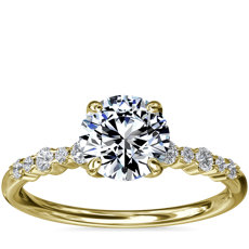 Crescendo Petite Diamond Engagement Ring in 14k Yellow Gold (1/6 ct. tw.)