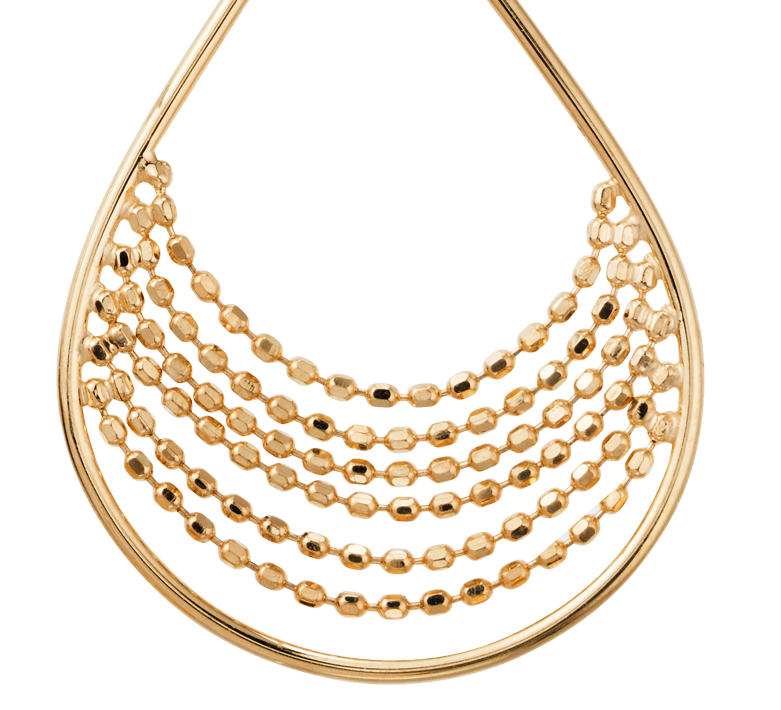 Crescent Drop Earrings in 14k Yellow Gold