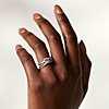 première vue alternative des Alliance entrelacée avec diamants sertis pavé en or blanc 14carats (1/3carat, poids total)