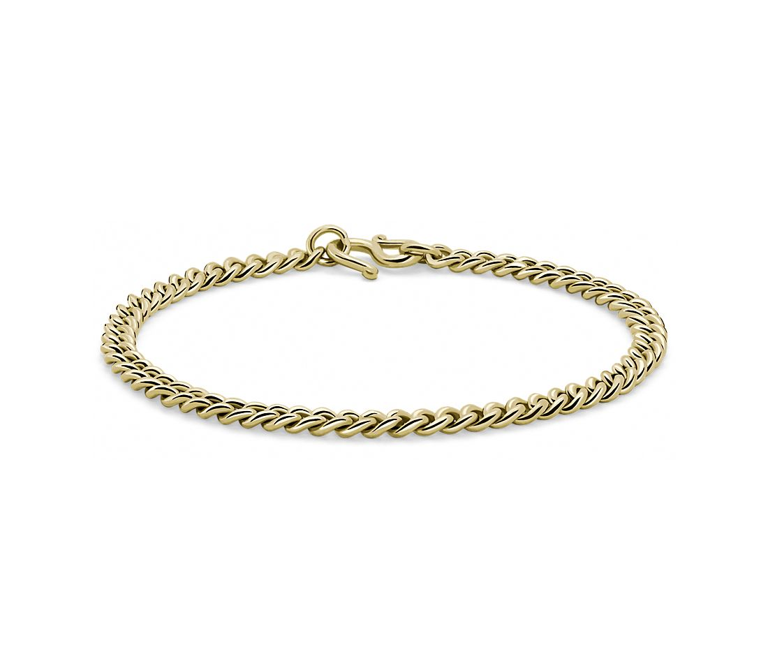 Cuban Link Bracelet in 24k Yellow Gold (5mm)