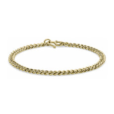 NEW Cuban Link Bracelet in 24k Yellow Gold (5mm)