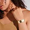 first alternate view of Satin Cuff Bracelet in 14k Italian Yellow Gold