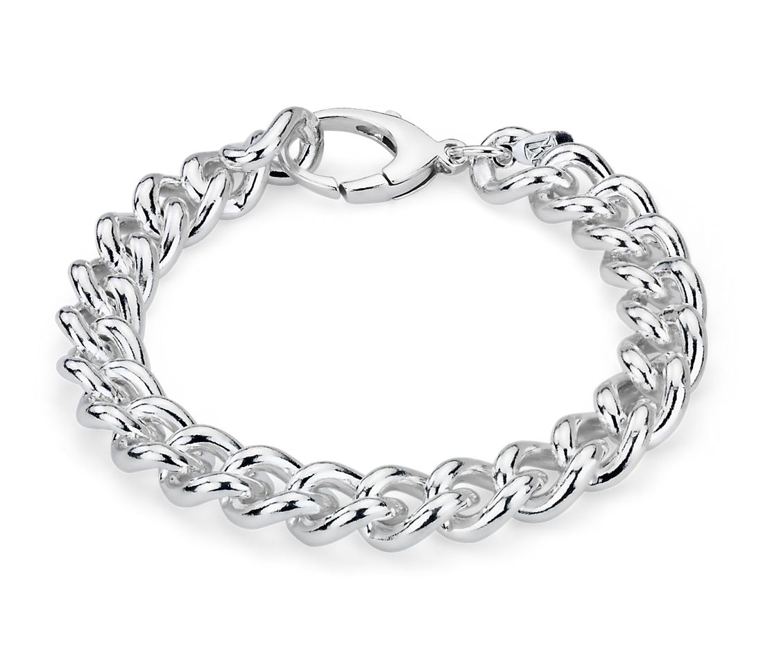 Curb Chain Bracelet in Sterling Silver