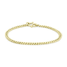 NEW Curb Link Bracelet in 24k Yellow Gold (3.7mm)