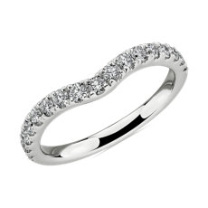 NEW Curved Diamond Wedding Ring in 14k White Gold (1/2 ct. tw.)