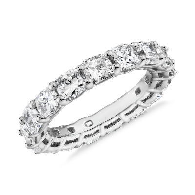NEW Cushion Cut Diamond Eternity Ring in Platinum (5.0 ct. tw.)