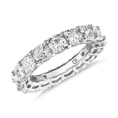 NEW Cushion Cut Diamond Eternity Ring in Platinum (6.0 ct. tw.)