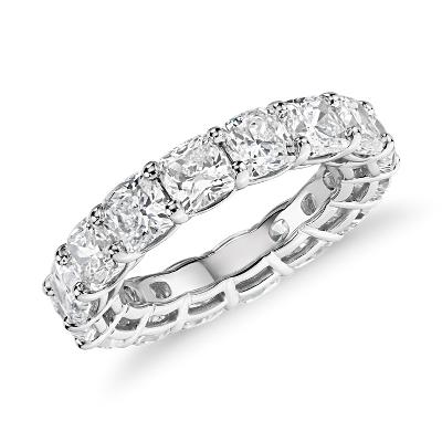 新款 鉑金 墊形切割鑽石永恆戒指 <br>(7.0 克拉總重量)