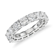 Cushion Cut Diamond Eternity Ring in Platinum (7.0 ct. tw.)