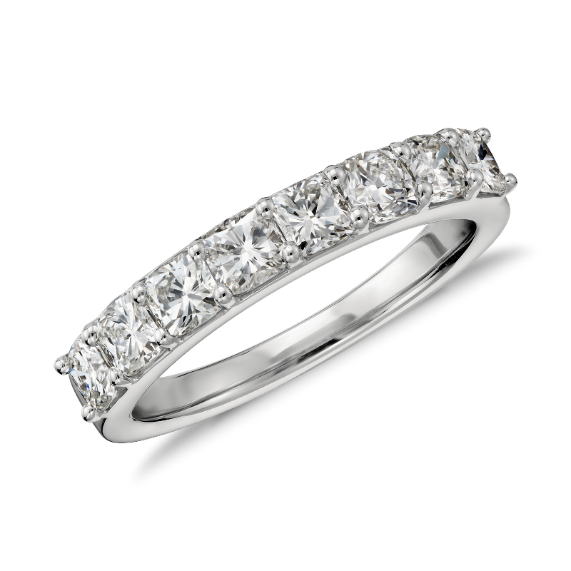 Cushion Cut Eight Stone Diamond Ring in Platinum (1 1/5 ct. tw.)