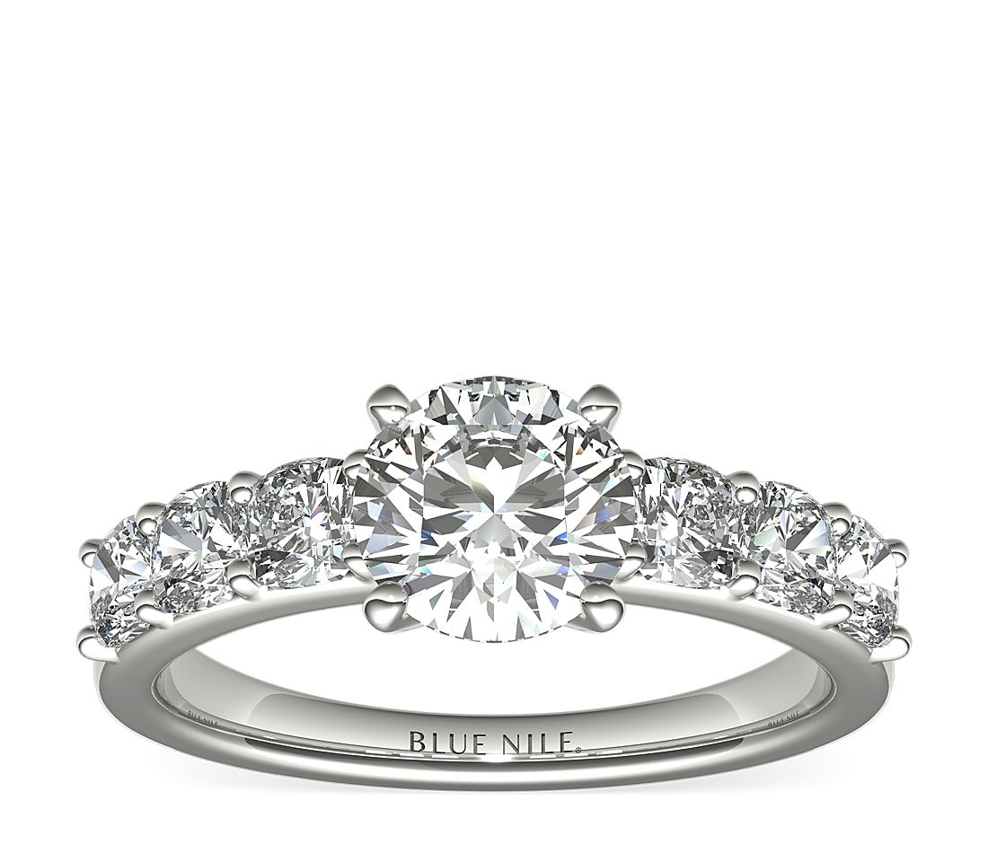 1 Carat Ready-to-Ship Cushion-Cut Diamond Engagement Ring in Platinum