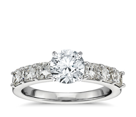 ct setmain cut tw build your engagement own wedding blue diamond in platinum ring cushion nile rings