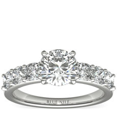 Cushion-Cut Diamond Engagement Ring in Platinum (1 ct. tw.)