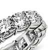 Cushion Cut Diamond Eternity Ring in Platinum - E / VS1 (10.00 ct. tw.)