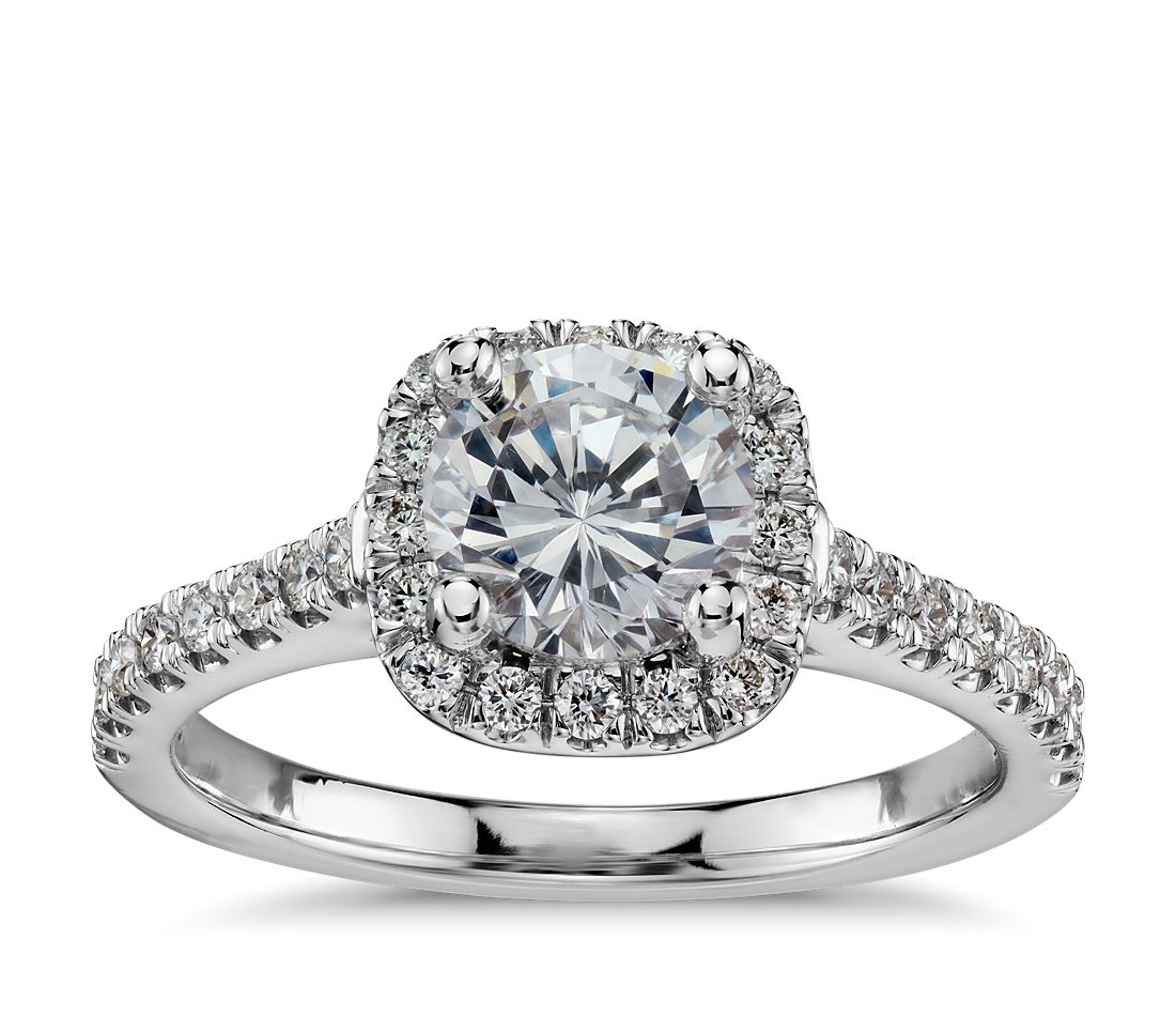 b1ea741f5112 Cushion Halo Diamond Engagement Ring in 14k White Gold (1 3 ct. tw.)